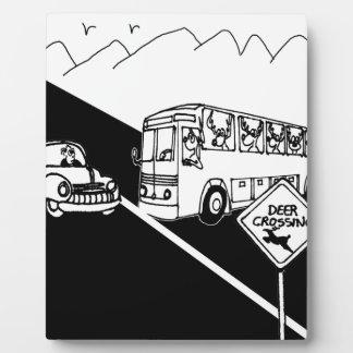 Bus Cartoon 3251 Plaque