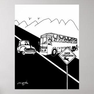 Bus Cartoon 3251 Poster