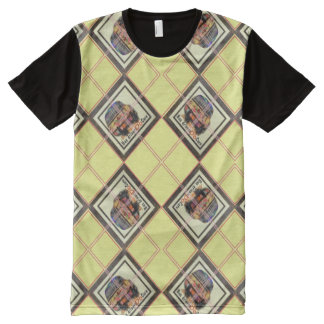 Bus driver argyle pattern All-Over print t-shirt