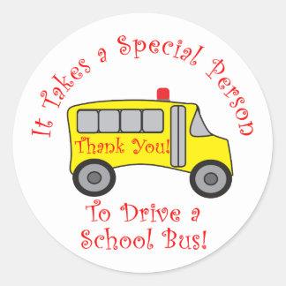 Bus Driver Classic Round Sticker