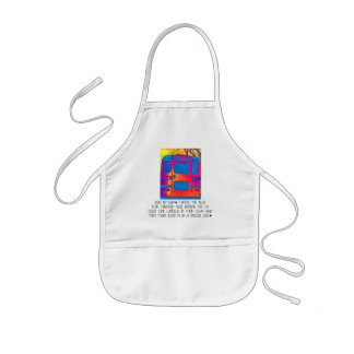 Bus Driver Day By Day Bus Back Kids' Apron