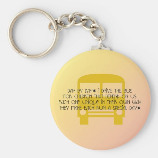 Bus Driver - Day By Day Poem Keychain