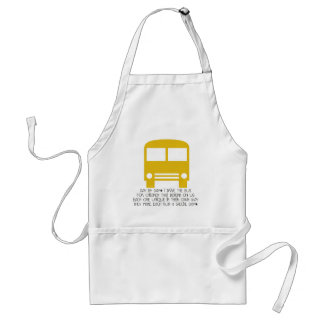 Bus Driver Day By Day Yellow Bus Adult Apron