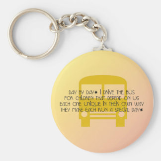 Bus Driver Day By Day Yellow Bus Keychain