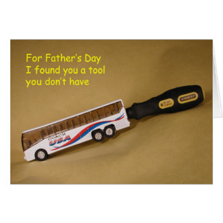 Bus Driver Father's Day Card