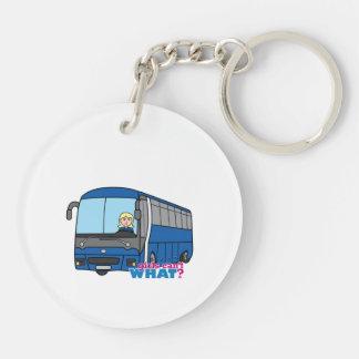 Bus Driver - Light/Blonde Keychain