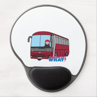 Bus Driver Light/Red Gel Mouse Pads