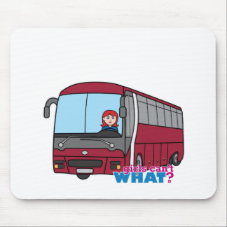 Bus Driver Light/Red Mousepads