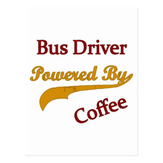 Bus Driver Powered By Coffee Postcard