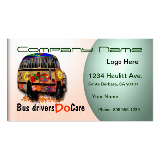 Bus Driver Professional Business Card
