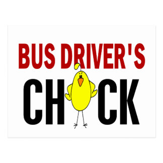 BUS DRIVER'S CHICK POSTCARD