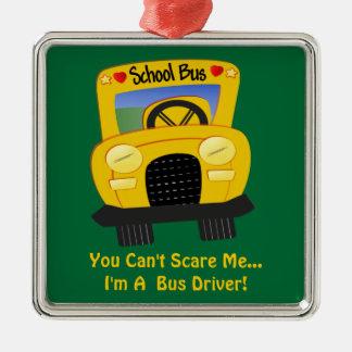 Bus Driver Scare (customizable) Metal Ornament