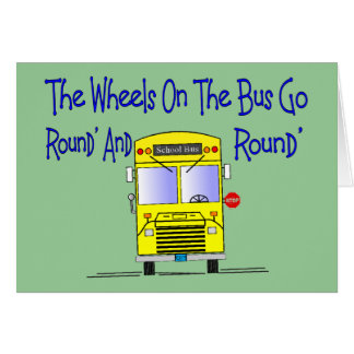 """Bus Driver """"The Wheels on the Bus"""" Card"""