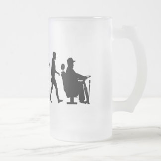 Bus driver trucking Lorry driver Frosted Glass Beer Mug