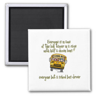 Bus Drivers 2 Inch Square Magnet