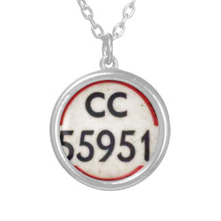 BUS DRIVERS BADGE UK SILVER PLATED NECKLACE