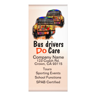 Bus Drivers Do Care Ad Personalized Rack Card