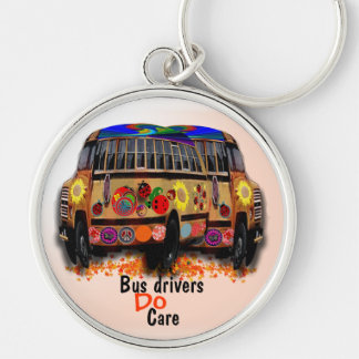 Bus Drivers Do Care Keychain