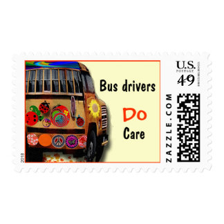 Bus Drivers Do Care Postage Stamps