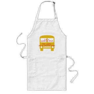 Bus Driver's Precious Cargo-Yellow Bus Long Apron