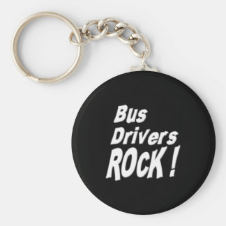 Bus Drivers Rock! Keychain