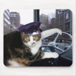 Bus Driving Cat Mouse Pads