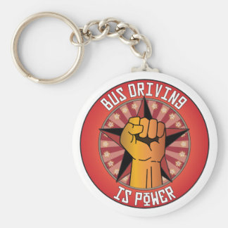 Bus Driving Is Power Basic Round Button Keychain
