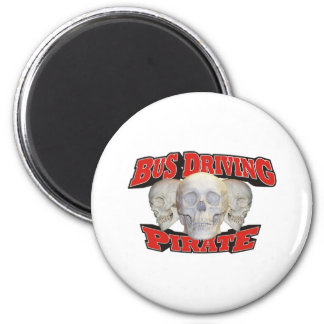 Bus Driving Pirate Refrigerator Magnet