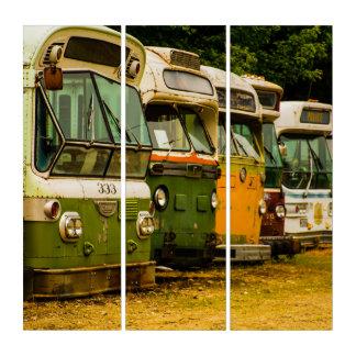 Bus Graveyard AcryliPrint®HD Triptych Wall Art