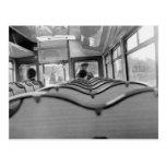 Bus Interior (Late 1970s) Postcard