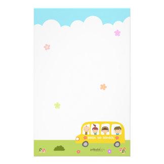 Bus School Back To School Stationary Customized Stationery