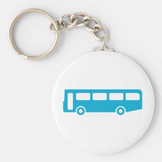 bus school basic round button keychain