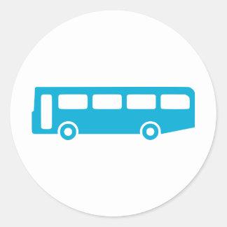 bus school classic round sticker