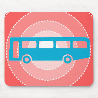 bus school mouse pad