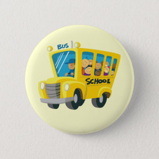 Bus school - pinback button