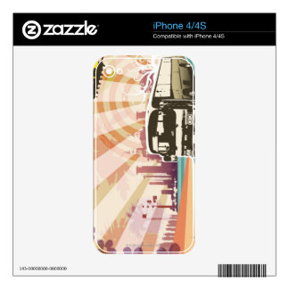 Bus Skin For iPhone 4