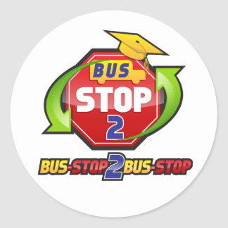 Bus-stop 2 Bus-stop Clothing and Acessories Classic Round Sticker