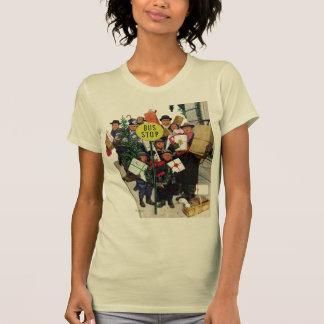 Bus Stop at Christmas T-shirts