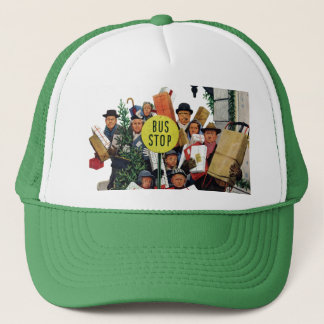 Bus Stop at Christmas Trucker Hat