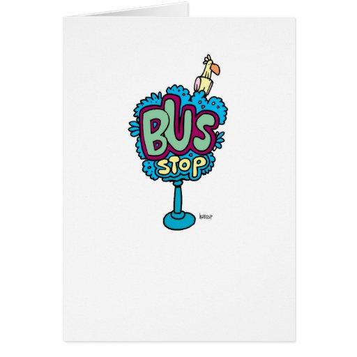 Bus Stop Bird Card