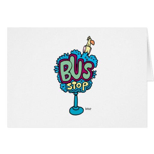 Bus Stop Bird Greeting Card