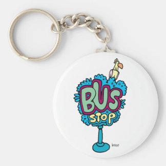 Bus Stop Bird Keychain