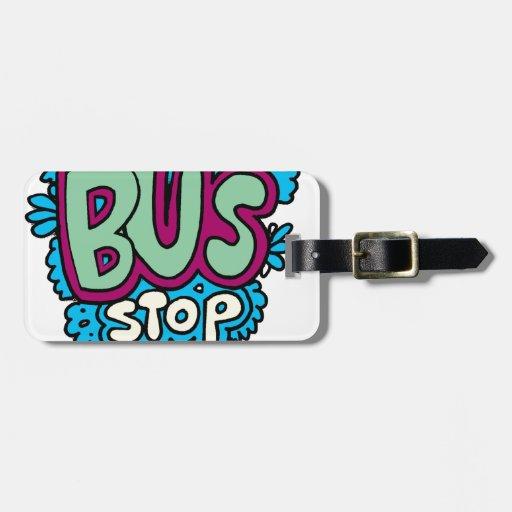 Bus Stop Bird Travel Bag Tags