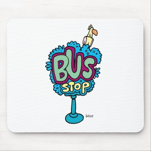 Bus Stop Bird Mouse Pad