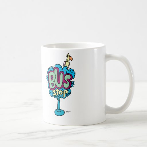 Bus Stop Bird Coffee Mug