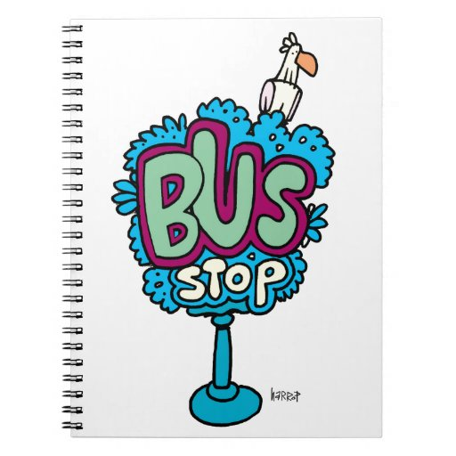 Bus Stop Bird Spiral Note Books