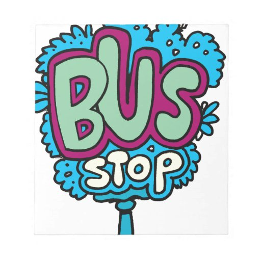 Bus Stop Bird Memo Notepads