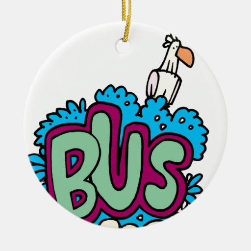 Bus Stop Bird Ornament