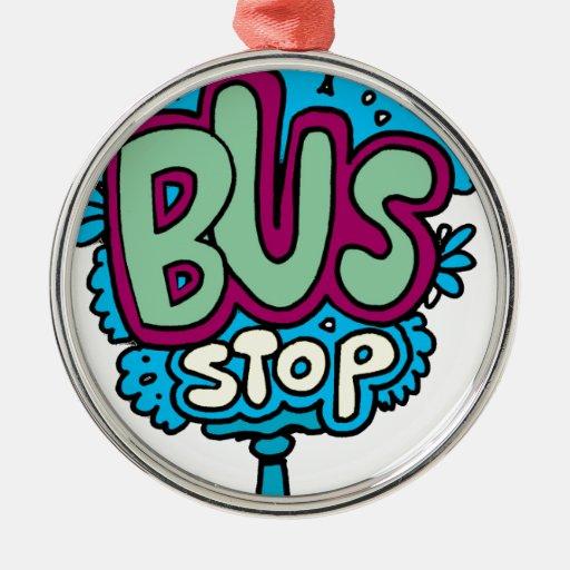 Bus Stop Bird Christmas Tree Ornaments