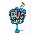 Bus Stop Bird Postcard